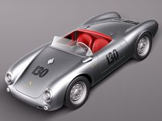 Porsche Spyder 550 1955 Model available on Turbo Squid, the world's leading provider of digital models for visualization, films, television, and games. Porsche 911 Speedster, Porsche 718 Boxster, Porsche 550, Bentley Mulliner, Audi R8 Gt, Pagani Huayra Bc, Boxster Spyder, Car 3d Model, Tesla Roadster