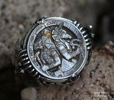 Horus & Anubis ring