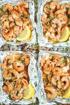 Everyone's favorite shrimp scampi without any of the fuss in these easy-to-assemble foil pouches! Prep ahead of time too! I love a good shrimp scampi. (more…) The post Shrimp Scampi Foil Packets ap Grilling Recipes, Fish Recipes, Seafood Recipes, Dinner Recipes, Cooking Recipes, Healthy Recipes, Easy Shrimp Recipes, Zone Recipes, Recipies