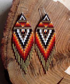 Olive Sunrise Earrings by wildmintjewelry on Etsy
