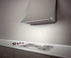 Prima cappa perfettamente integrabile nell'architettura della cucina, in continuità con la parete, Nuage di Elica è un elettrodomestico... http://www.inbenessere.it/2014/07/76339/