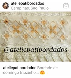 Hardanger Embroidery, Bargello, Decor, Towel Crafts, Embroidered Towels, Border Tiles, Manualidades, Punto De Cruz, Tejidos