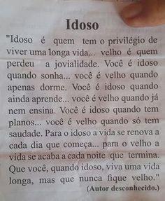 Idoso - mensagem