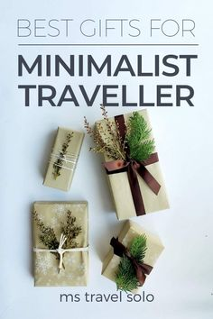 What do you get a minimalist traveller who doesn't need anything? Check out my Christmas minimalist gift guide on the best minimalist gifts for travellers. And don't forget to pin it on your Pinterest board! #minimalism #minimalistchritmasgifts #christmasgiftguide #minimalistgift #mstravelsolo