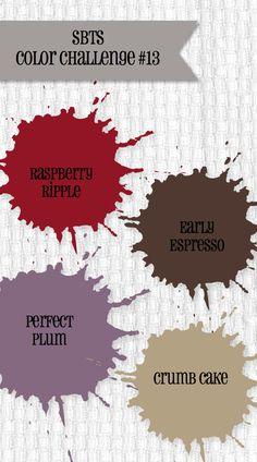 SBTS Color Challenge #13,raspberry ripple, perfect plum, early espresso, crumb cake
