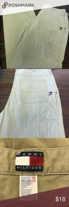 Tommy Hilfiger Khaki Jeans Worn a few times, perfect condition, no flaws. Tommy Hilfiger Pants Chinos & Khakis