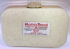 Harris tweed bride clutch bags