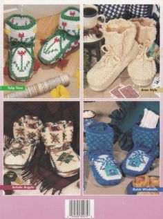Fancy-Feet-Crochet-Pattern-Booklet-HWB-101040-Five-Warm-amp-Cozy-Slipper-Designs