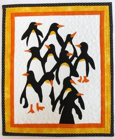 11 Little Penguins quilt