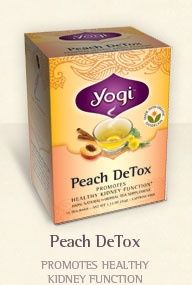 Yogi Tea, Peach Detox.  Great tasting.