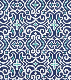 """Joann fabric for drapery panel below sink -Robert Allen New Damask-Marine  I'm trying to get an idea of the pattern direction you want me to go.  Please """"like"""" anything you like."""