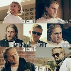 Jax through the years. Jackson Teller, Fortunate Son, Ryan Hurst, Sons Of Anarchy Samcro, Charlie Hunnam Soa, Jax Teller, Dave Matthews, Television Program, Attractive People