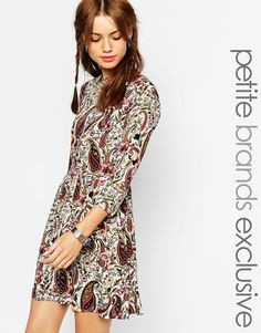 Glamorous Petite Paisley Print Waisted Dress from ASOS