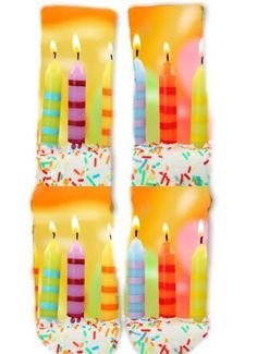 Please email us if you need a custom pair of socks! We can print anything on socks. Socks For Sale, Cake Day, Birthday Bash, Birthday Candles, Gifts, Shoe, Clothing, Outfits, Presents