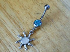 Sun Belly button ring - Body Jewelry - Belly Button Ring by ChelseaJewels on Etsy https://www.etsy.com/listing/158873014/sun-belly-button-ring-body-jewelry-belly