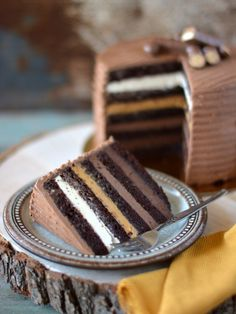 Chocolate Desserts, Vegan Desserts, Delicious Desserts, Hungarian Recipes, Vegan Thanksgiving, Just Cakes, Creative Cakes, Yummy Cakes, Cake Recipes