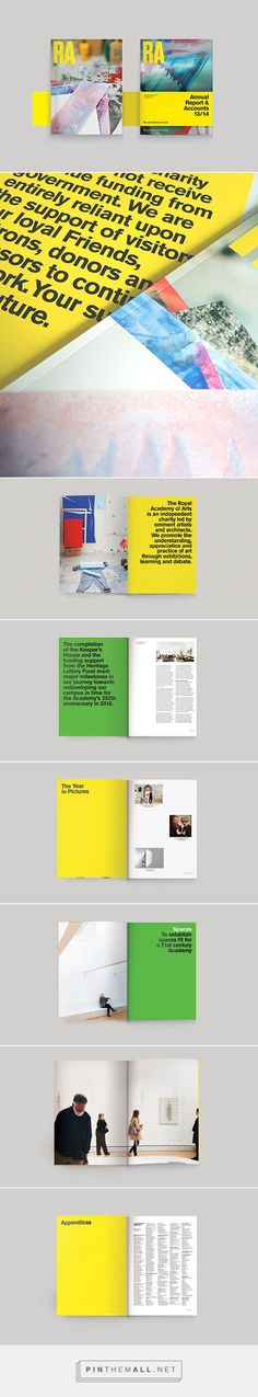 It's Nice That | Gaggero Works' beautiful annual report designs for the Royal Academy - created via https://pinthemall.net