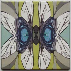 Dragonfly | tile | geometric | ceramic