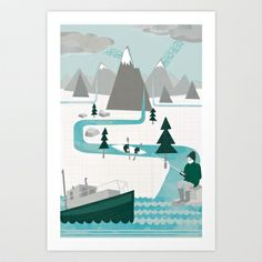 I like water Art Print by Kerry Hyndman