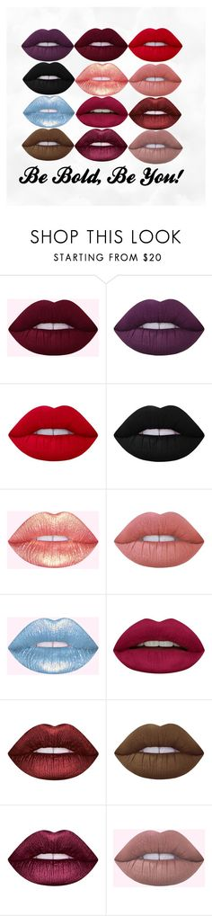 """Be Bold, Be You!"" by urdestii ❤ liked on Polyvore featuring beauty, Lime Crime, Huda Beauty, LIPSTICK, makeup and colour"