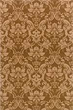 Sphinx by Oriental Weavers 748679270217 Knightsbridge ft. x ft. Casual Rectangular Rug - Brown and Gold Kitchen Area Rugs, Damask Rug, Transitional Area Rugs, Classic Rugs, Gold Rug, Leaf Flowers, Wool Area Rugs, Woven Rug, Rug Size