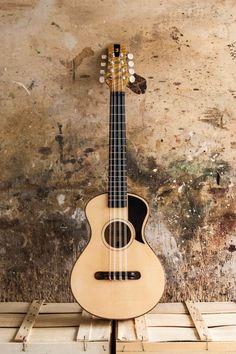 Antica Ukuleleria 8 String Tenor Guitar Musical Instrument, Musical Instruments, Tenor Ukulele, Mandolin, Vintage Guitars, Cool Guitar, Construction, Flat, Top
