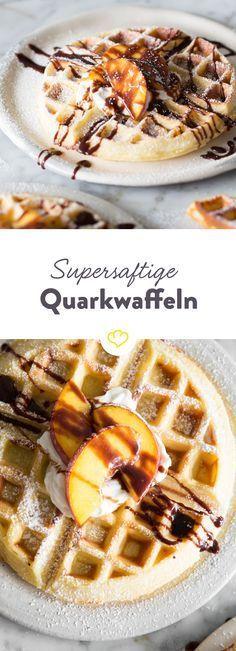 Die saftigsten Waffeln machst du aus Quark und Mineralwasser ❁ @alinenathalieep ❁