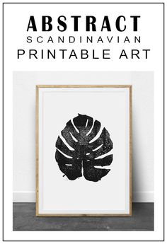 Beautiful and modern Scandinavian style printable art! Simple and elegant, minimalist abstract prints make your living look clean and modern! Tropical Leaf, Tropical Print, Printable Instant Download, Tropical Wall Decor, Black and White, Linocut, Monstera Leaf, Botanical Decor #etsy #etsysellers #ad