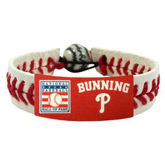 Philadelphia Phillies Baseball Hall of Fame Jim Bunning Wristband