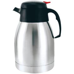 New Arrival: Brentwood Vacuum Coffee Pot (2.0 Liter) - High-quality stainless steel Vacuum insulated Keeps beverages hot or cold for hours Easy push & pour Great for school, office & travel 2.0L