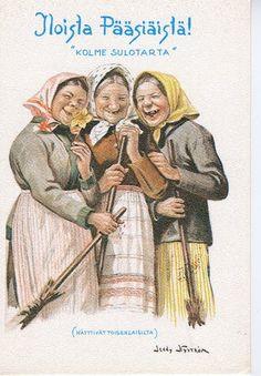 Easter Art, Easter Crafts, Vintage Cards, Vintage Postcards, Pin Up Illustration, Unexplained Mysteries, Arte Popular, Vintage Easter, Nordic Style