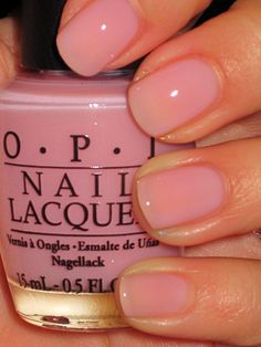 OPI's In the Spot Light Pink Nail Color #naturalnailpolish