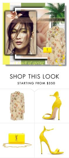 """""""Spring Floral!"""" by bella-danielle-mia ❤ liked on Polyvore featuring Exclusive for Intermix, Casadei, Yves Saint Laurent, Kate Spade, Spring, floral and katespade"""