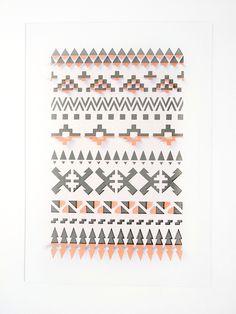 3D Folded Geometric Aztec Papercut