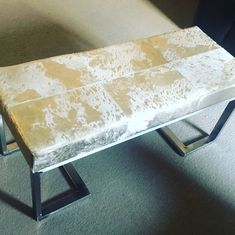 Cowhide Furniture, Dining Bench, Home Decor, Decoration Home, Table Bench, Room Decor, Home Interior Design, Home Decoration, Interior Design