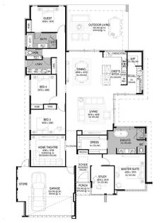 Home Design Inspiration - Beautiful Home Designs - National Homes Pool House Plans, Cabin House Plans, New House Plans, Dream House Plans, Small House Plans, Duplex Floor Plans, Floor Plan 4 Bedroom, 4 Bedroom House Plans, Home Building Design