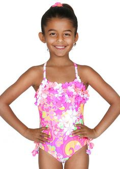 ea308f88a5b Bunnies Picnic - Malibu Swimwear Hula Star Groovy Swimsuit - Boutique  Clothing for Girls and Boys
