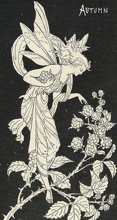 Autumn Fairy by Constance Foxley. 1890s
