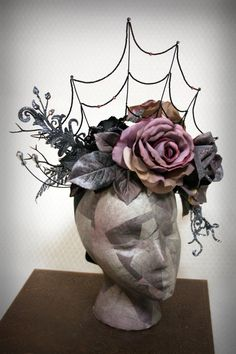Woman's Gothic Victorian Spider Web Masquerade Headdress: Twilight's Crown