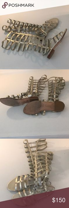 Stuart Weitzman gladiators Tall gold gladiator sandals Stuart Weitzman Shoes Sandals