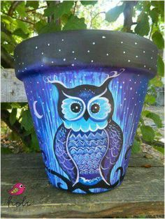 Owl pot - so cute