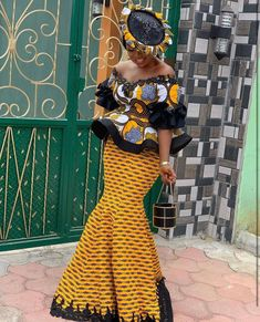 Today,we indulge you to have a look on this pretty Creative Ankara Skirt and Blouse for your our dear Besties . Best African Dresses, Latest African Fashion Dresses, African Print Dresses, African Print Fashion, African Attire, African Women Fashion, African Print Skirt, African Print Dress Designs, Ankara Designs