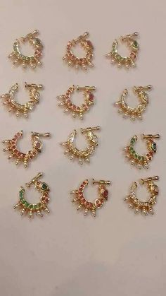 Tika Jewelry, Nose Ring Jewelry, Gold Nose Rings, India Jewelry, Pearl Jewelry, Wedding Jewelry, Jewellery, Nose Ring Designs, Hanging Earrings