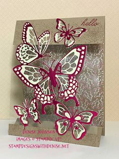 Beauty Abounds Tent Card by - Cards and Paper Crafts at Splitcoaststampers Fancy Fold Cards, Folded Cards, Pop Up Cards, Cute Cards, Acetate Cards, Tent Cards, Cricut Cards, Stamping Up Cards, Butterfly Cards