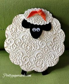 Darling Lamb Card... on the front ill put when you feel baaad don't wooly... (on the inside) im here for you...LOL
