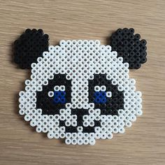 Panda bear hama beads by perlepige