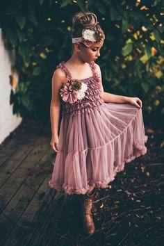 dusty rose flower girl dress flower girl dresses by PoshPeanutKids