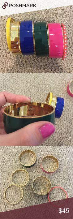 J. Crew Bangles - set of 6 Set of 6 J. Crew bangles J. Crew Jewelry Bracelets