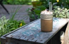Iced Coffee Frappe at home | Simple Bites - http://www.simplebites.net/iced-coffee-frappe-at-home/