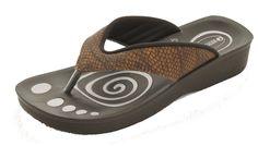 Aerowalk sandal med flot alligator mønster